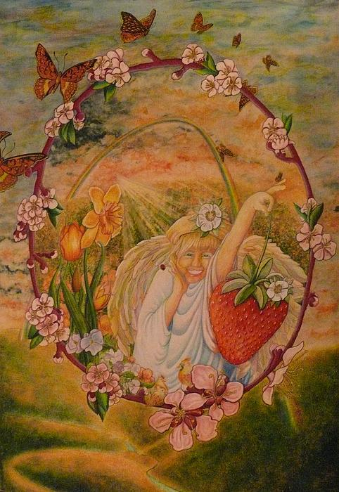 Spring Painting - Spring by Jacquelyn Roberts