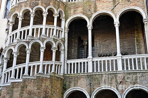 15th Century Photograph - Staircase At Palazzo Contarini Del Bovolo by Sami Sarkis