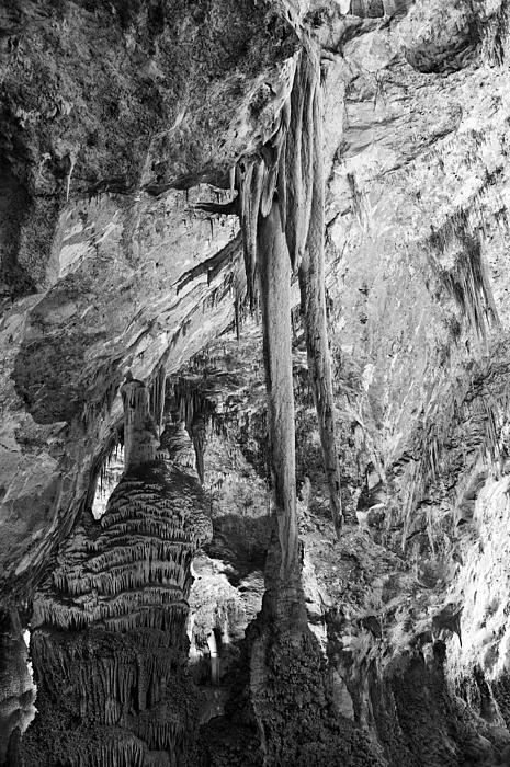 Ancient Photograph - Stalactites And Stalagmites by Melany Sarafis