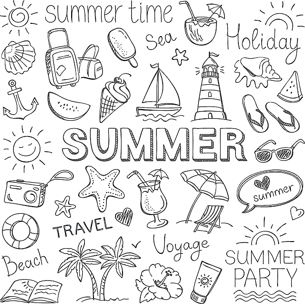 Summer Drawing by Ulimi