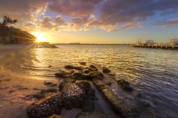 Boats Photograph - Sunset Light by Debra and Dave Vanderlaan