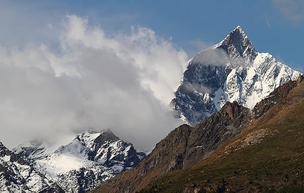Matterhorn Photograph - Swiss Alps Shrouded In Clouds by Jetson Nguyen