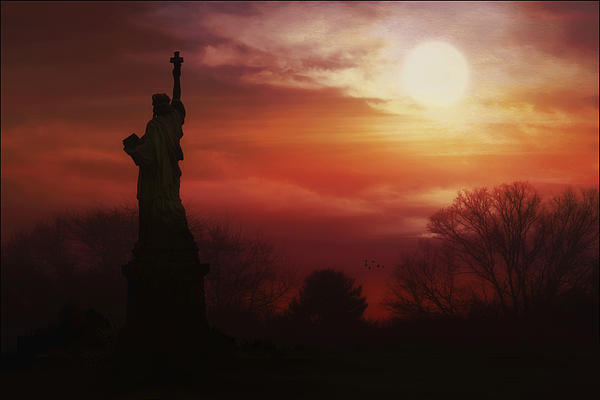 Statue Of Liberty Photograph - The Lady In The Harbor by Tom York Images
