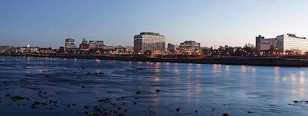 Usa, New Jersey, Trenton, Cityscape At Night Photograph by Henryk Sadura