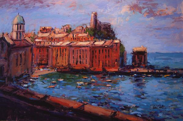 Vernazza Painting - Vernazza From The Train by R W Goetting