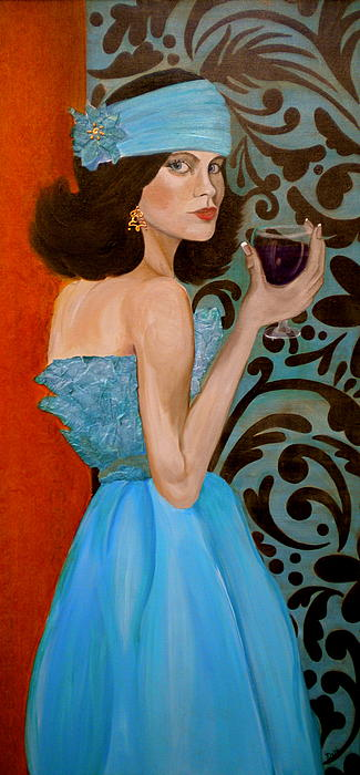 Woman Painting - Veronica by Debi Starr