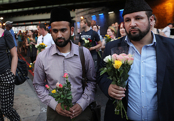 Vigil Held After One Person Killed In Terror Attack On Worshippers Leaving Ramadan Prayers Photograph by Dan Kitwood