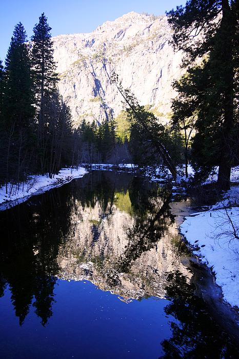 Granite Photograph - Winter Reflection by Michael Courtney