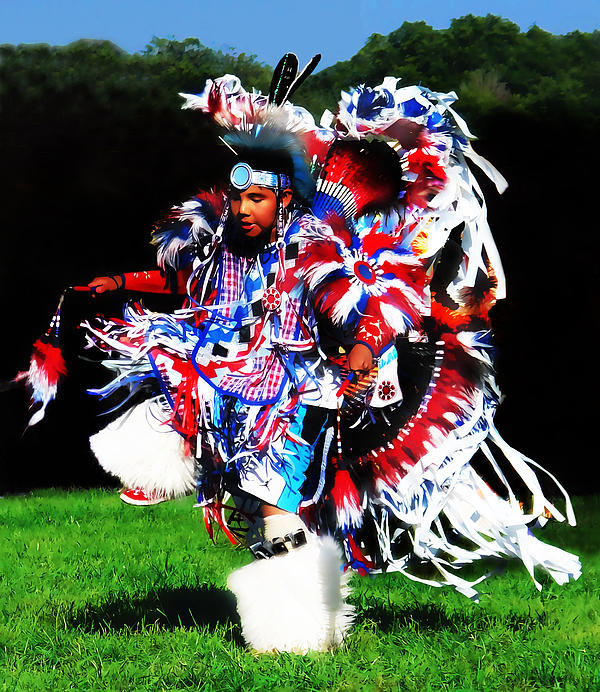 Native American Photograph - Young Fancy Dancer by Terril Heilman