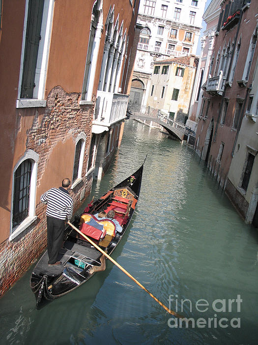 Canal Photograph - Gondola. Venice by Bernard Jaubert