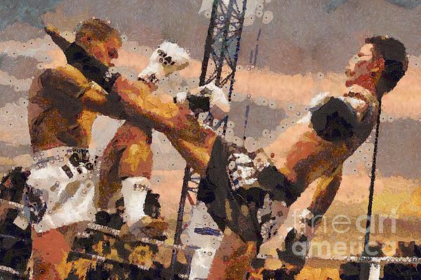 Muay Thai Digital Art - Muay Thai Arts Of Fighting by Rames Ratyantarakor