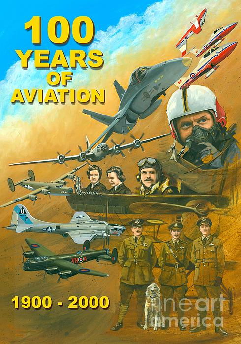 Aviation Poster Painting - 100 Years Of Aviation by Michael Swanson