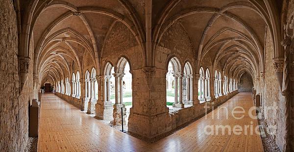 Gothic Photograph - 13th Century Gothic Cloister by Jose Elias - Sofia Pereira