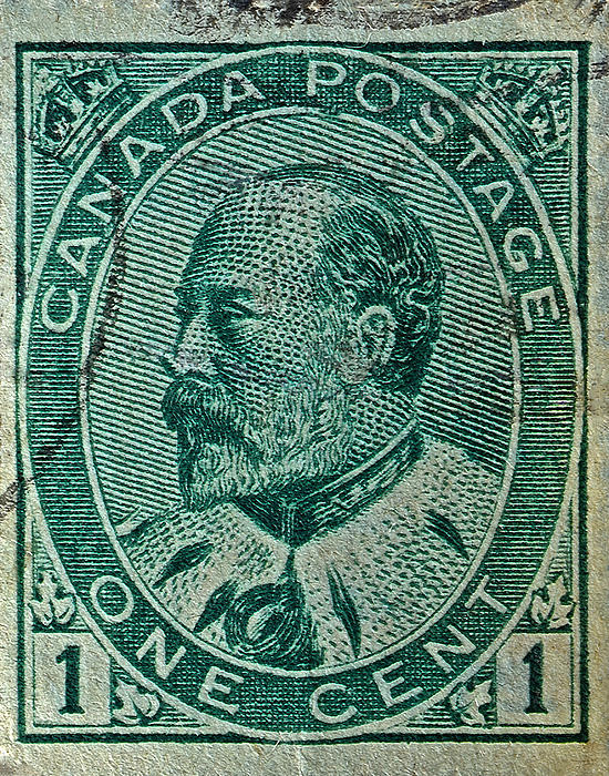 1903 Photograph - 1903-1908 King Edward Vii Canadian Stamp by Bill Owen
