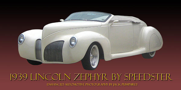 1939 Lincoln Zephyr Poster Photograph by Jack Pumphrey