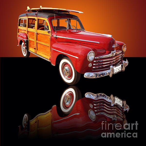 Car Photograph - 1947 Ford Woody by Jim Carrell