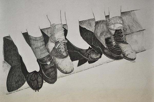 1950 Drawing - 1950 Shoe Fad by Glenn Calloway