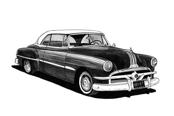 40s Painting - 1951 Pontiac Hard Top by Jack Pumphrey
