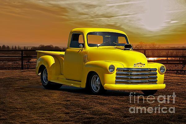 Auto Photograph - 1953 Chevrolet Pick Up custom Truck by Dave Koontz