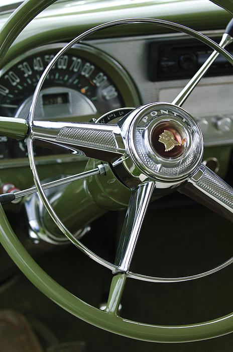 1953 Pontiac Photograph - 1953 Pontiac Steering Wheel by Jill Reger