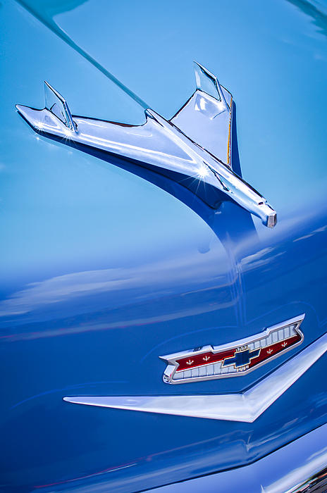 1956 Chevrolet 210 2-door Handyman Wagon Hood Ornament Photograph - 1956 Chevrolet 210 2-door Handyman Wagon Hood Ornament - Emblem by Jill Reger