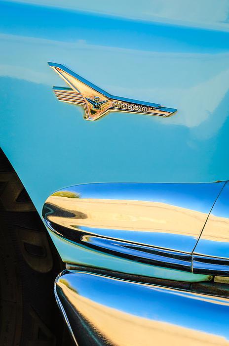 Classic Cars Photograph - 1956 Ford Fairlane Thunderbird Emblem by Jill Reger