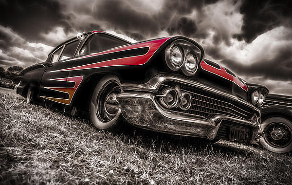 Chevrolet Biscayne Photograph - 1958 Chev Biscayne by motography aka Phil Clark