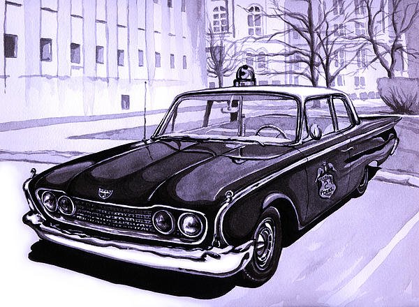 1960 Painting - 1960 Ford Fairlane Police Car by Neil Garrison