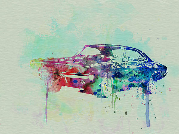 1967 Dodge Charger Painting - 1967 Dodge Charger  2 by Naxart Studio