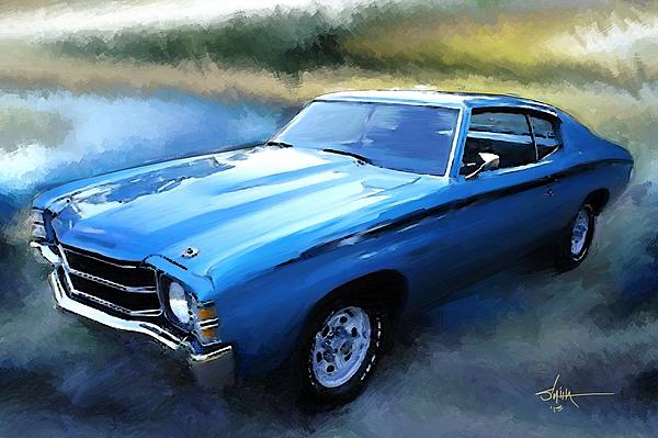 1971 Painting - 1971 Chevy Chevelle by Robert Smith