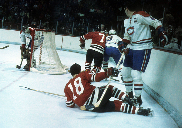 1971 Stanley Cup Finals:  Chicago Blackhawks V Montreal Canadiens Photograph by Melchior DiGiacomo