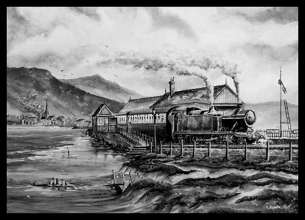 Train Painting - A Day At The Seaside by Andrew Read