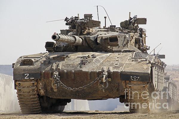 An Israel Defense Force Merkava Mark II Photograph by Ofer ...