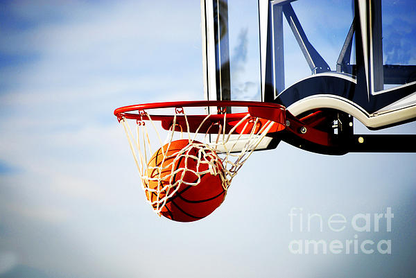 Rules Photograph - Basketball Shot by Lane Erickson
