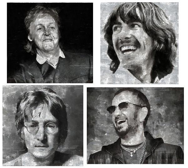 Watercolour Paintings Digital Art - Beatles by Galeria Zullian  Trompiz
