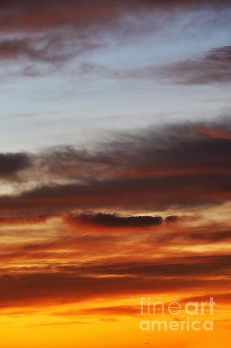 Atmosphere Photograph - Cloudscape At Sunrise by Sami Sarkis