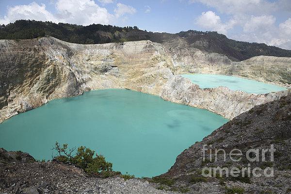 Horizontal Photograph - Colourful Crater Lakes Of Kelimutu by Richard Roscoe