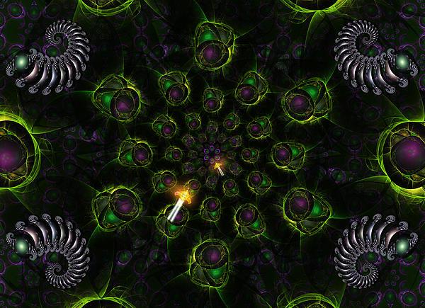 Corporate Digital Art - Cosmic Embryos by Shawn Dall