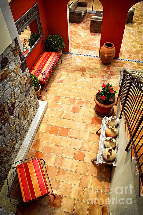 House Photograph - Courtyard Of A Villa by Elena Elisseeva