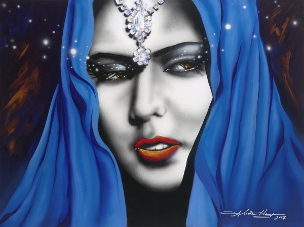 Women Painting - Desert Moon by Alicia Hayes