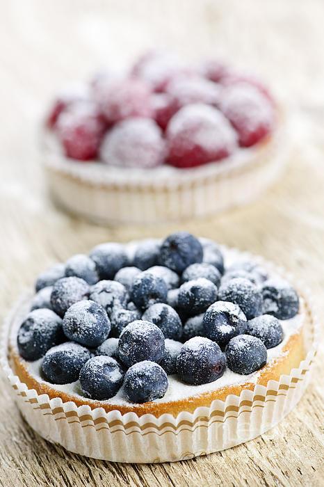 Fruit Photograph - Fruit Tarts by Elena Elisseeva