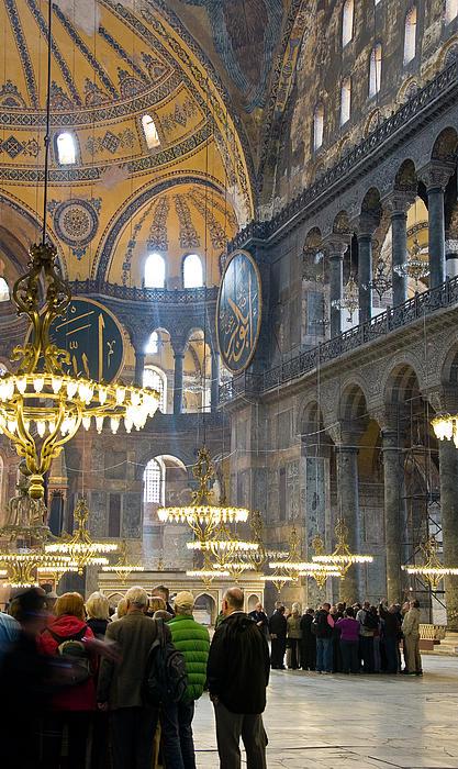 Hagia Photograph - Hagia Sophia Scene Four by Cliff C Morris Jr