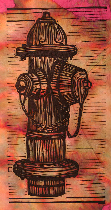 Hydrant Drawing - Hydrant by William Cauthern