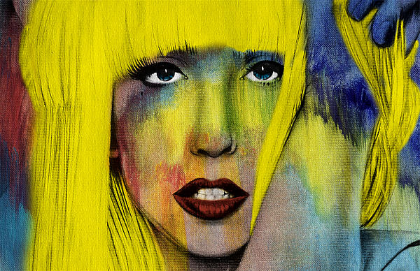 Lady Gaga Painting - Lady Gaga  by Mark Ashkenazi