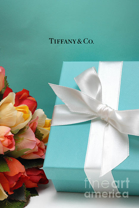 Anniversary Photograph - Little Blue Gift Box by Amy Cicconi
