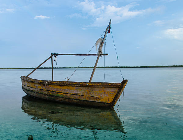 Boat Photograph - Lonely Boat by Jean Noren