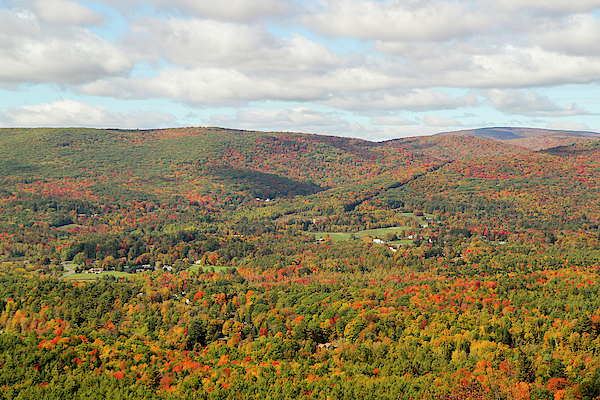Autumn Photograph - Looking Out Over The Autumn Landscape by Susan Pease