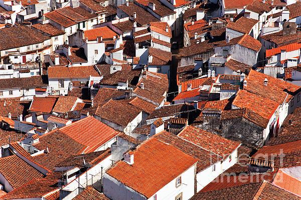 Cityscape Photograph - Medieval Town Rooftops by Jose Elias - Sofia Pereira