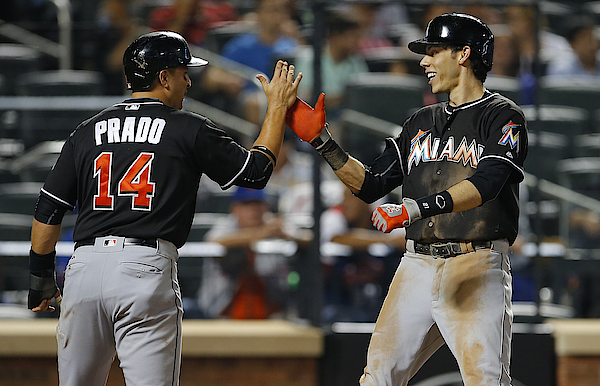 Miami Marlins V New York Mets Photograph by Rich Schultz