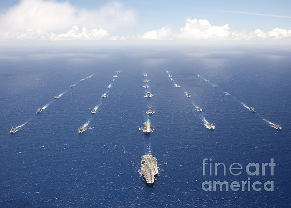 Rimpac Photograph - Ships And Submarines Participating by Stocktrek Images